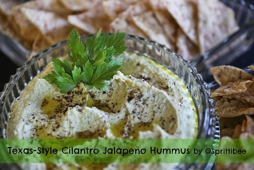 Texas Style Cilantro Jalapeño Hummus by @sprittibee
