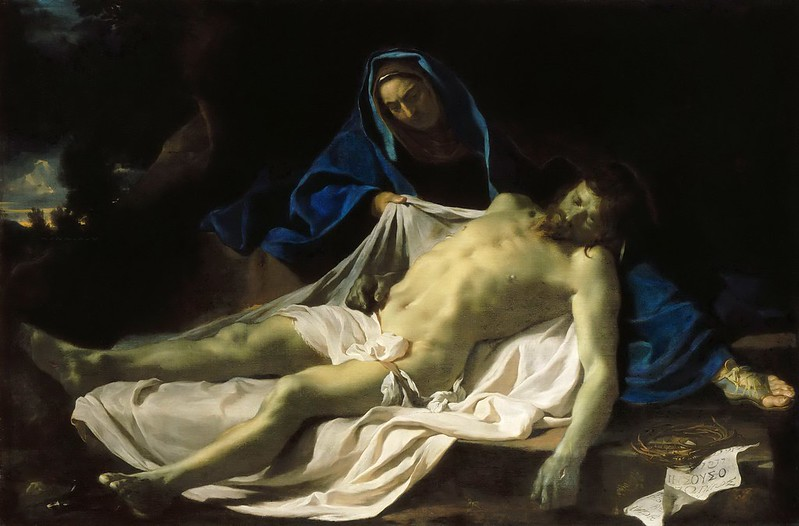 Charles Le Brun - Dead Christ on the Knees of the Virgin (c.1643-45)