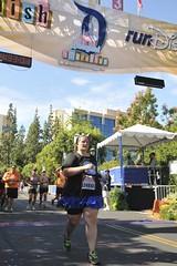 Yeah, I ran across the finish!