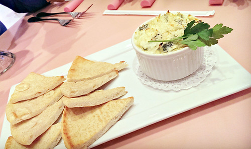 American Girl Cafe: Warm Artichoke Spinach Dip