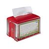 SCA 2311918 Tork Dispenser for Napkins Xpressnap Tabletop Clear / Red