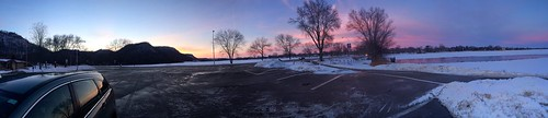 Sunset at Lake Winona panorama