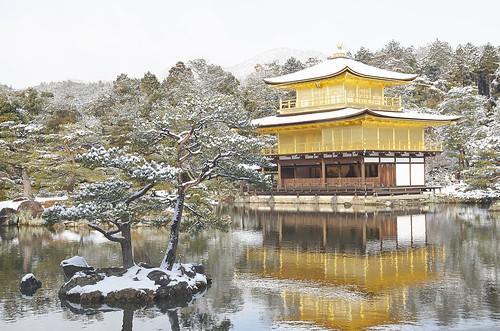 【写真】雪 : 金閣寺
