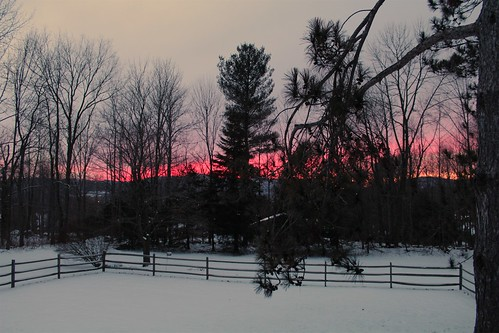 winter sunset vermont