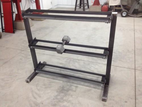 Homemade dumbbell rack plans homemade ftempo for Homemade weight rack plans