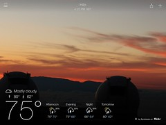 The Yahoo Weather Application