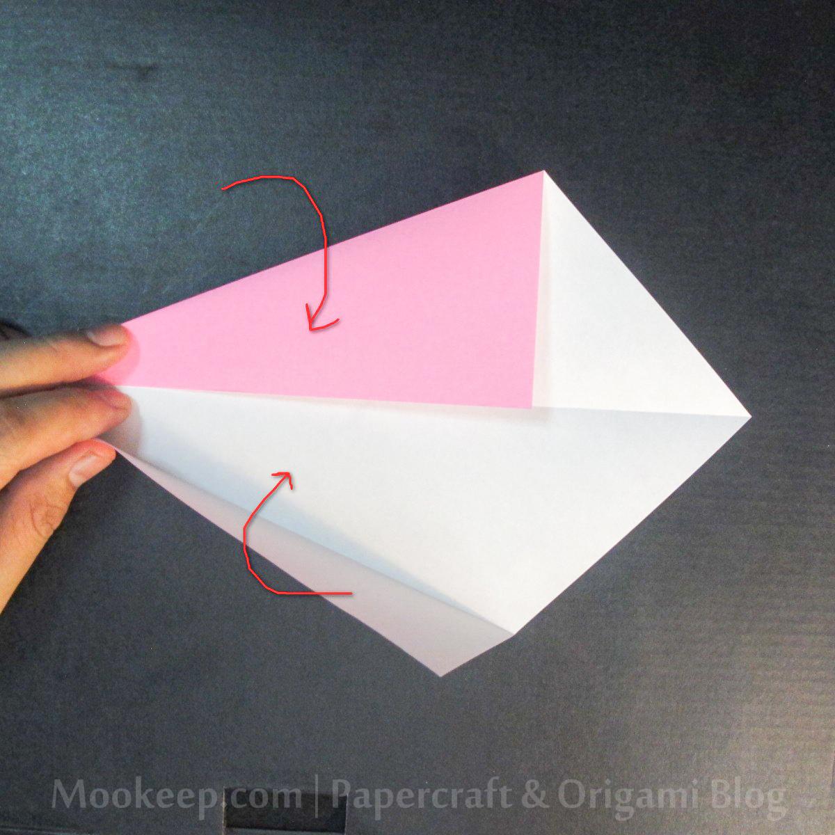 สอนวิธีการพับกระดาษเป็นรูปเป็ด (Origami Duck) - 003.jpg