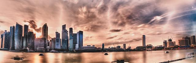 Marina Bay Cityscape Panorama + HDR