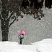 Repost in empathy for all of you buried in snow  and frigid cold - Girl walking home from school in snowstorm by coollessons2004