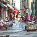 Having Coffee in Old Town Geneva, Switzerland by ` Toshio '