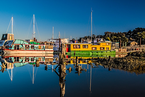 boats in Sausalito at sunset 3 by joeeisner