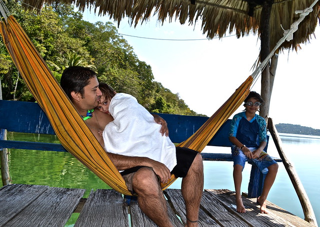 down time on lake peten itza, guatemala