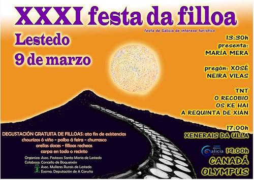 Boqueixón 2014 - XXXI Festa da Filloa de Lestedo - cartel