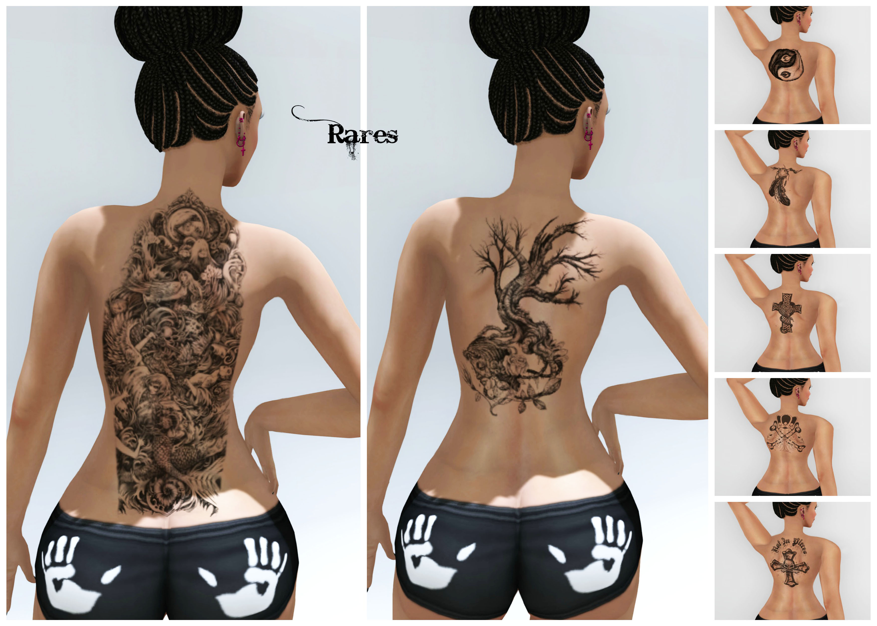 Grunge Back Tattoos Collage