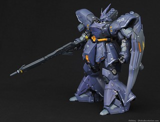 For more information on this build check out otakurevolution.com/content/mg-sazabi-ver-ka-completed-build