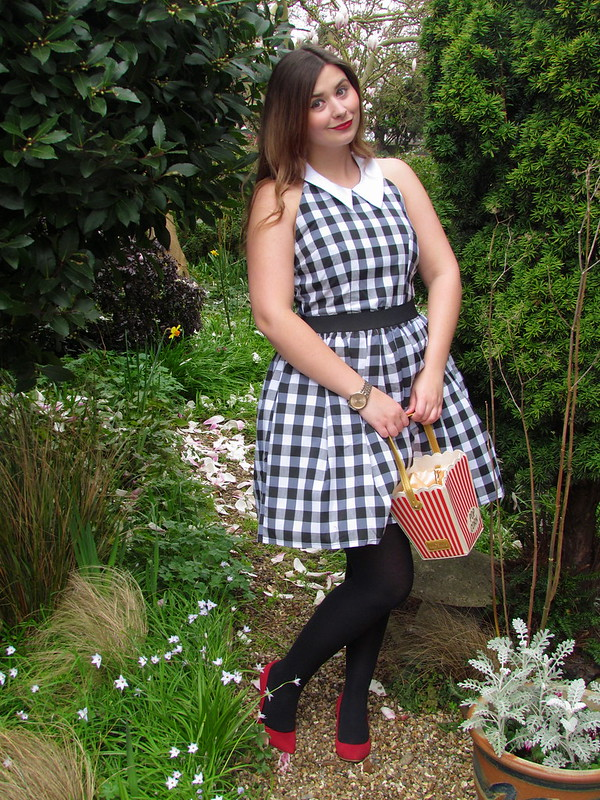 Rare London Black White Gingham Summer Dress