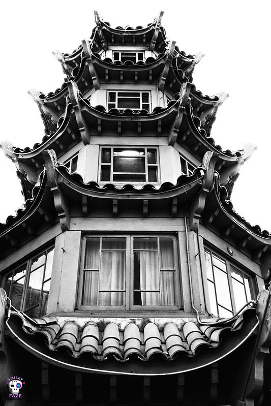 Pagoda Living (B&W)