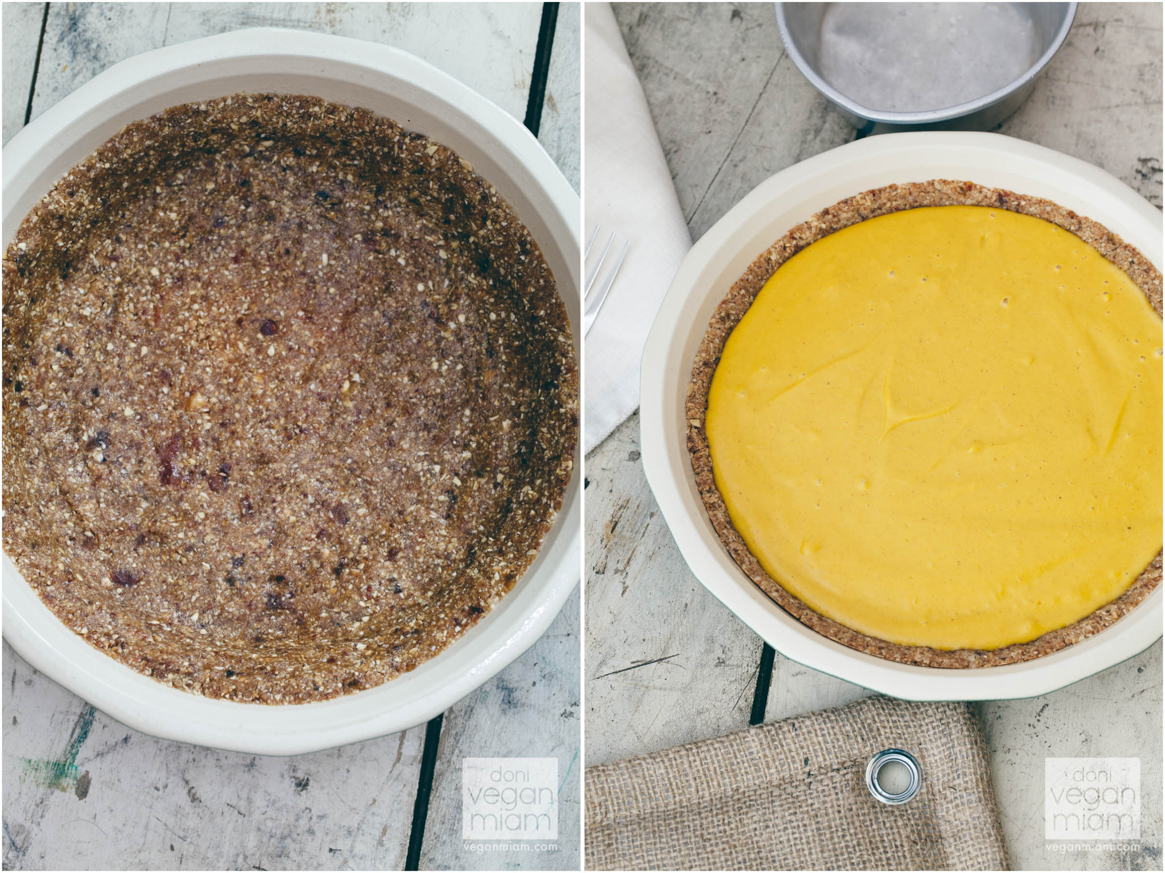 Raw Pumpkin-Maple Pie with Baked Oat Crust
