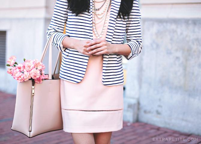 pink dress gold heels3