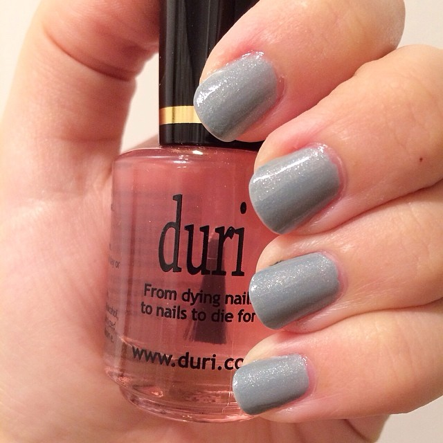 Trying a new #nail product, #durirejuvacoat. Hope it helps my weak #nails!