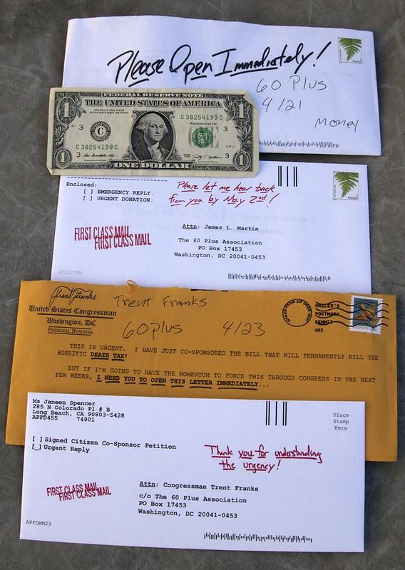 60 Plus, junk mail
