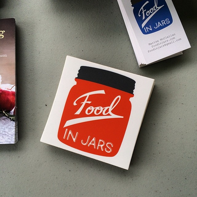 Did I mention that the Food in Jars stickers are in? They are free with every book purchase!