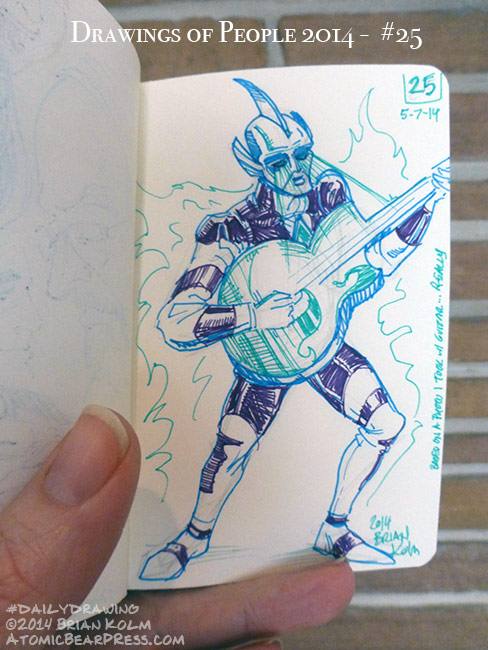05-07-2014 #dailydrawing #people ultra-rocker