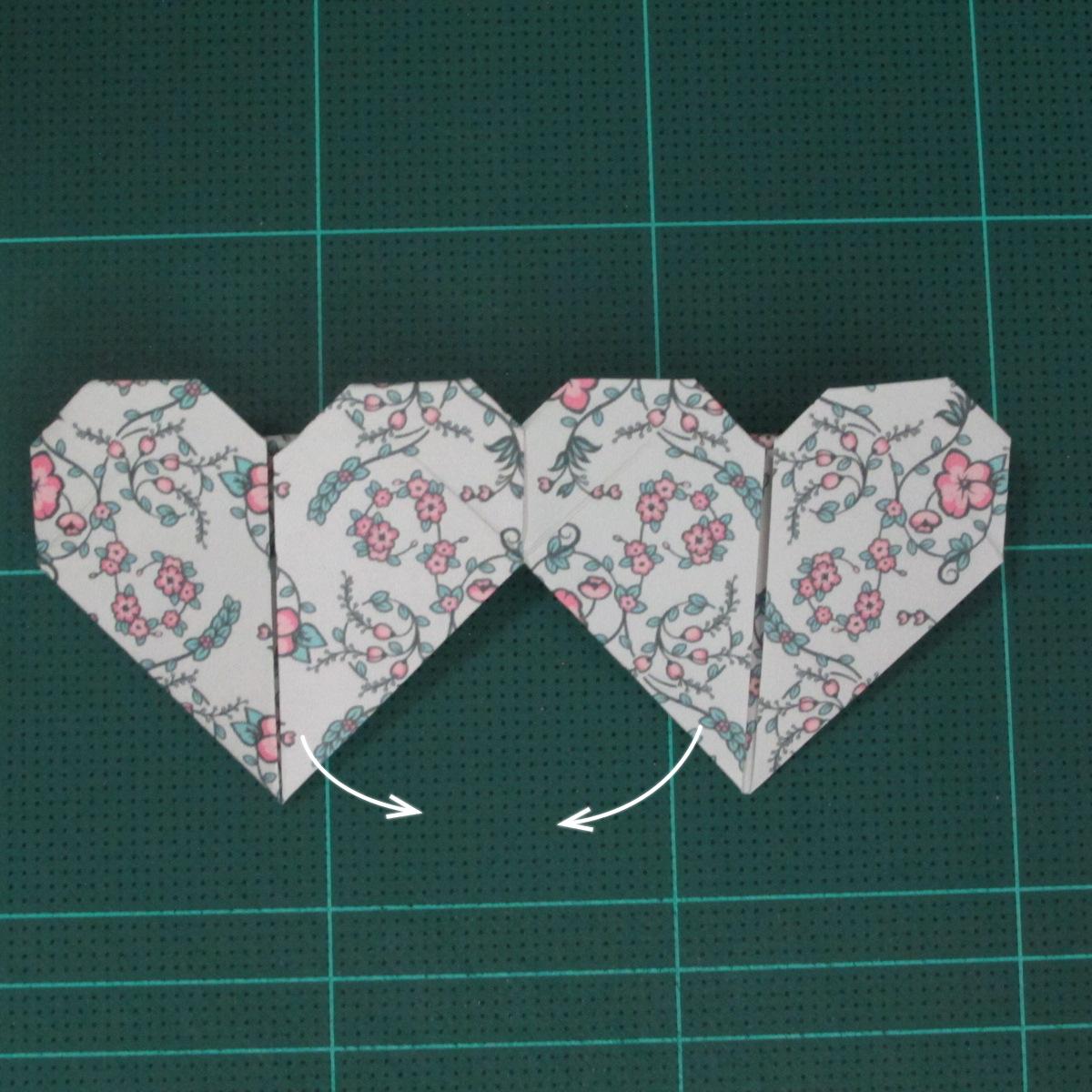 วิธีพับกระดาษรูปหัวใจคู่ (Origami Double Heart)  029