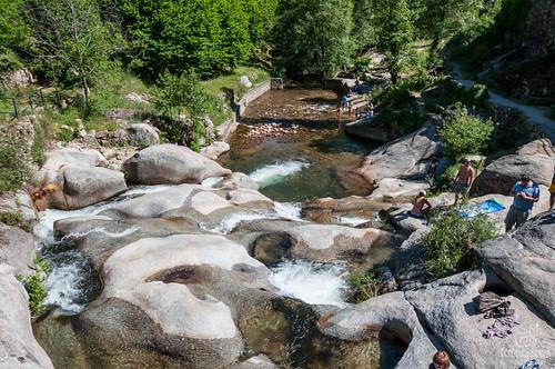 Las piscinas naturales de Garganta Mayor al norte de Cáceres