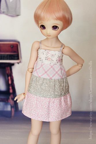 Patchwork dress (Pink)