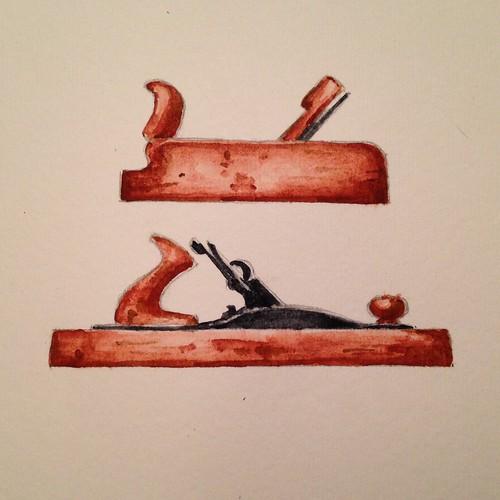 Watercolor hand planes