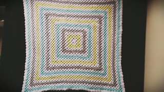 Sunny granny square baby blanket