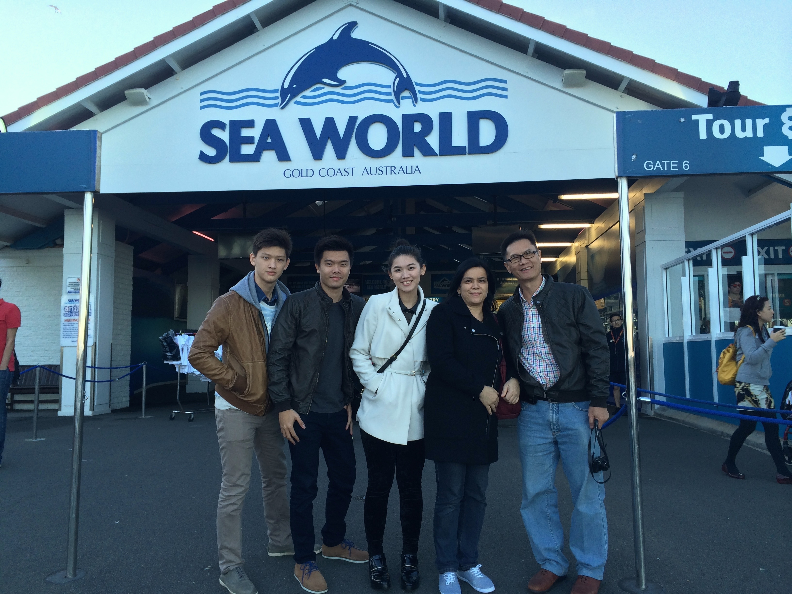 Sea World Family Snap