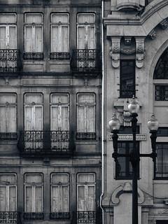 Obraz Almeida Garrett. old window wall arquitectura balcony porto janela velho parede antigo varanda ccbysa darktable