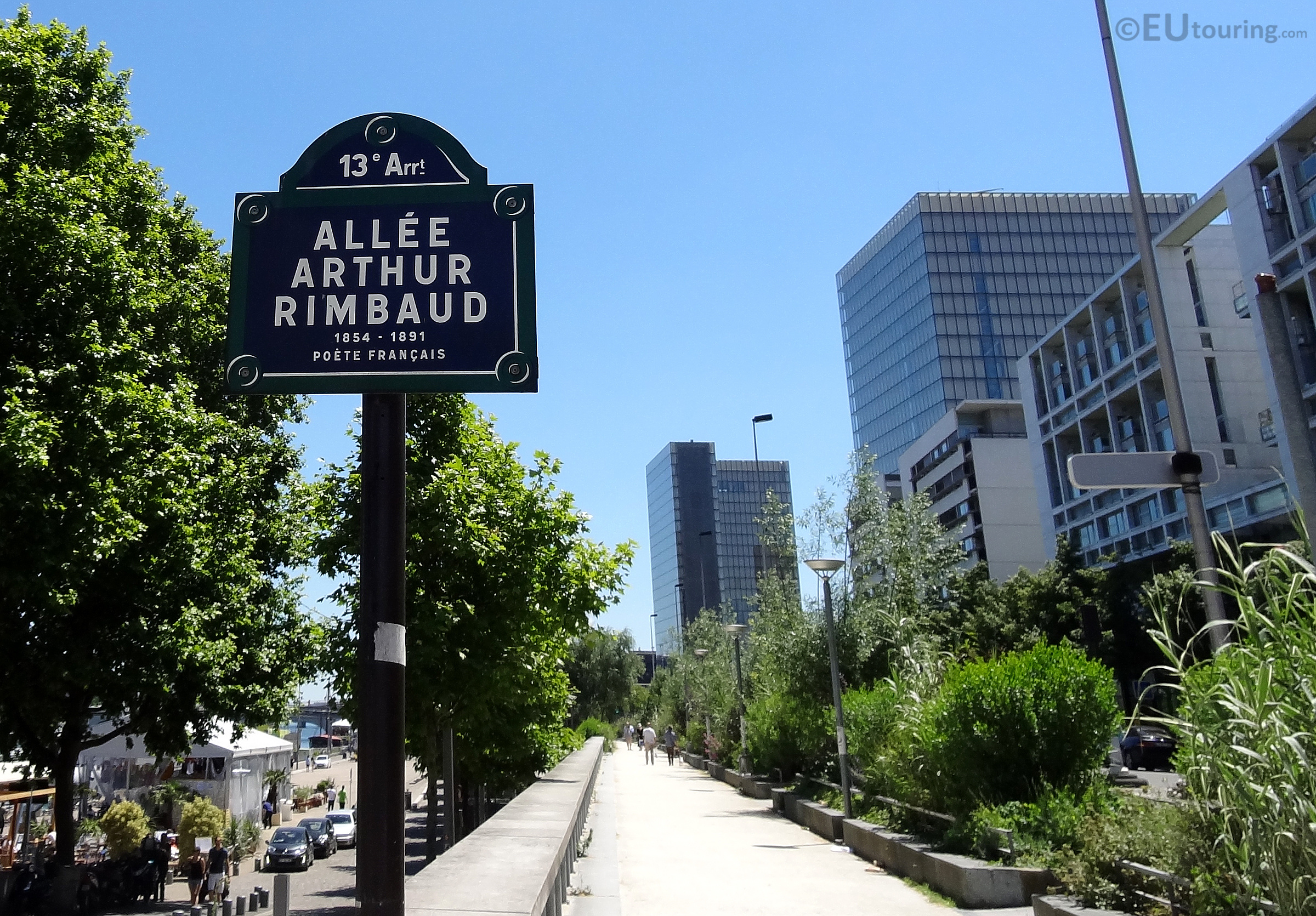 Sign post to Allee Arthur Rimbaud