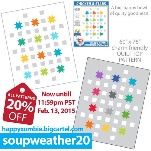Chicken & Stars PDF pattern!