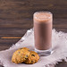 Chocolate milk with diet oatmeal cookies-4