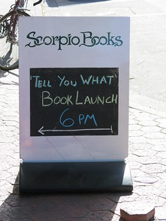 Tell you what book launch, Scorpio Books