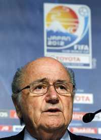 El suizo Joseph Blatter presentó este jueves su candidatura Foto Reuters