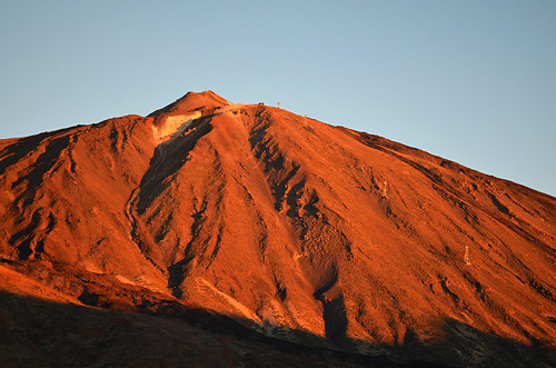 Sunrise on the volcano, Mount Teide, Tenerife