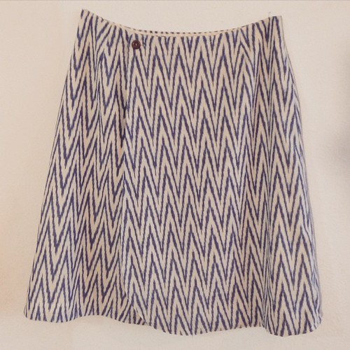 Modified the skirt by leaving off the waistband. My first #vintagepledge finished. #isew #vintagepatterns #iloveikat