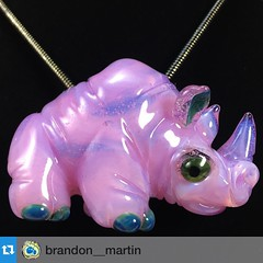 "#Repost @brandon__martin: ""Ned"" #experimental #rhino #pendant is now available at Brandonmartin.bigcartel.com $100 FROM THE SALE OF THIS PENDANT WILL BE DONATED TO THE INTERNATIONAL RHINO FOUNDATION"