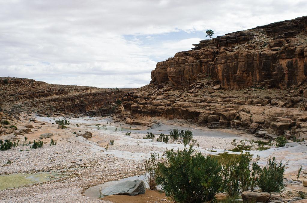 Trek sans guide au Maroc - 5 jours dans l'anti-Atlas - La fin du canyon