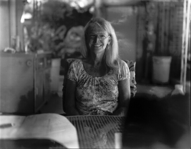 Sue in Phoenix, Expired Kodak TXP320 - Speed Graphic