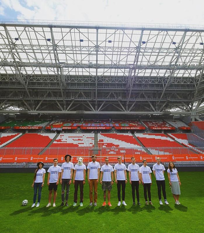 Сегодня прошёл ещё один неожиданный #kazanarenameet на #казаньарена в рамках #нефорум2016 #нефорумказань в очень позитивной компании классных ребят и девчат! Собрали целую футбольную команду! ##открытаяшколафотографии #fujifilmru #доброеутротатарстан