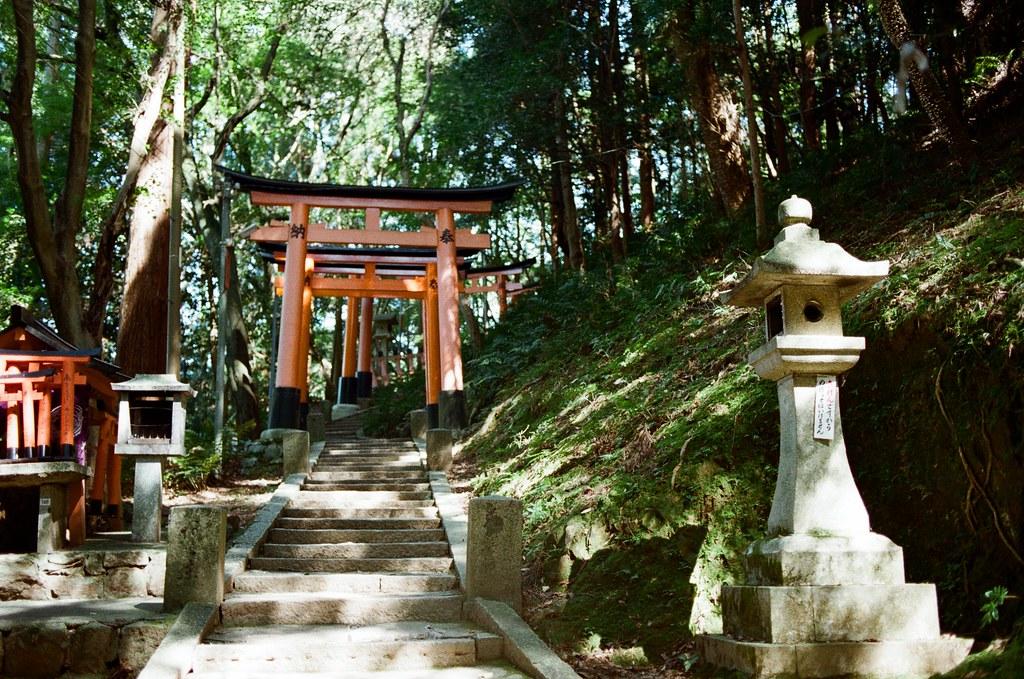 伏見稻荷 京都 Kyoto, Japan / Kodak ColorPlus / Nikon FM2 停了好段時間沒有把這段旅行的影像整理出來,時間也走的比我分享的還快。  繼續爬稻荷山,路上已經都沒有什麼人繼續爬了,那時候應該快到山頂,我一路上想說爬過了山頂應該可以實現什麼吧!  不過到後來想想,就只是單純的運動這樣。  Nikon FM2 Nikon AI AF Nikkor 35mm F/2D Kodak ColorPlus ISO200 0993-0028 2015/09/29 Photo by Toomore
