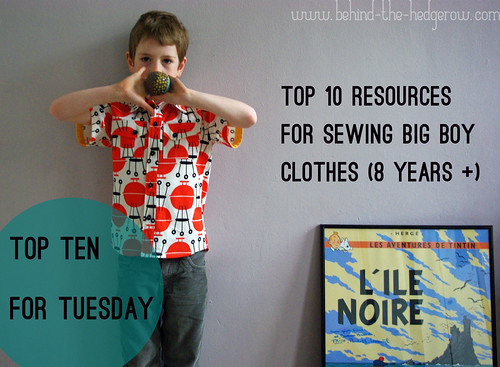 Top 10 - sewing for big boys - title pic