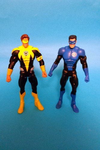 Yellow Lantern Hal and Blue Lantern Guy