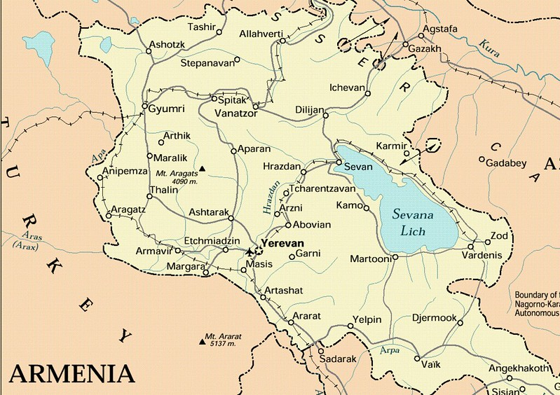 Maps Of Armenia Joao Leitao TRAVEL - Armenia map