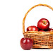 juicy apples in basket